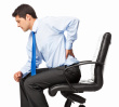 stock photo 20606409 businessman with backache isolated